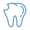 icons8-dent-fissurée-100